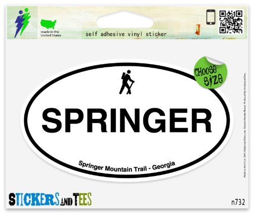 springer-mountain-trail-oval-car-sticker-indoor-outdoor-5-x-3