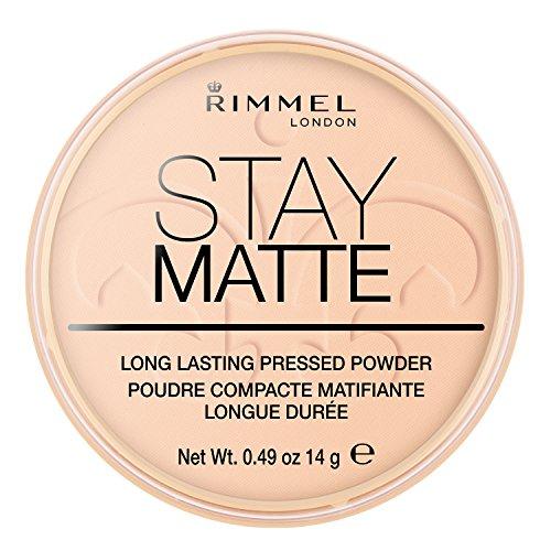 Rimmel London Stay Matte Pressed Powder, Warm Beige, 0.49 - Pressed Powder Satin
