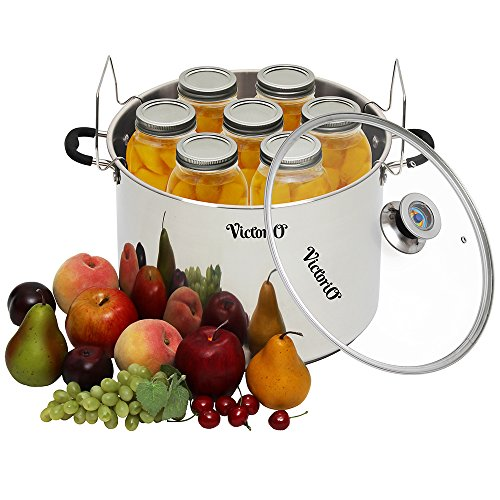 Stainless Steel Multi-Use Canner with Temperature ...