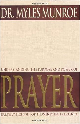 Understanding The Purpose And Power Of Prayer Myles Munroe