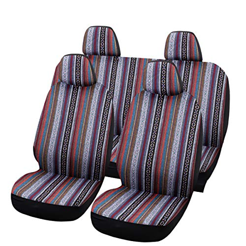 SHAKAR Universal Delux Baja Blanket Car Seat Covers Full Set(5 Seats)