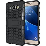 MHUB(tm) Defender Tough Hybrid Armour Shockproof Hard PC + TPU with Kick Stand Rugged Back Case Cover for SAMSUNG GALAXY ON8