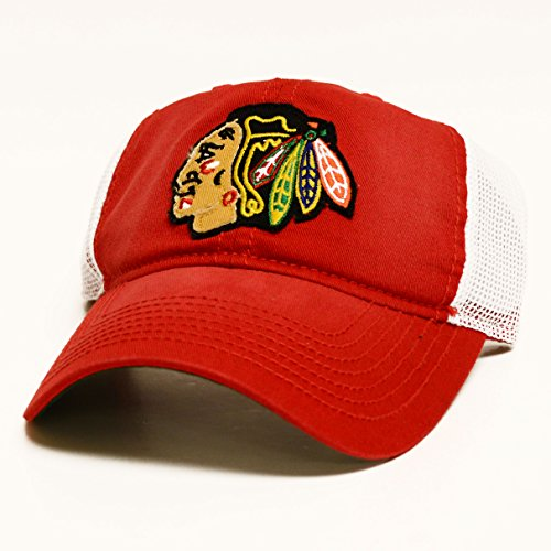 (Reebok NHL 2016 CCM Stadium Series Mens Adjustable Mesh Slouch Hat (One Size, Chicago Blackhawks))