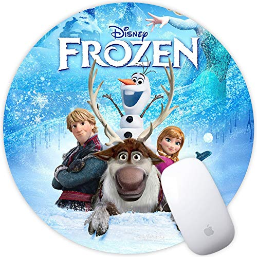 DISNEY COLLECTION Frozen Romance Snow Snow Adventures Ice Queen Queen Snow Queen Ice Queen Frozen Princess Square Round Computer Gaming Mouse Pad Skidproof High Mouse Tracking for Office, Gaming, Home