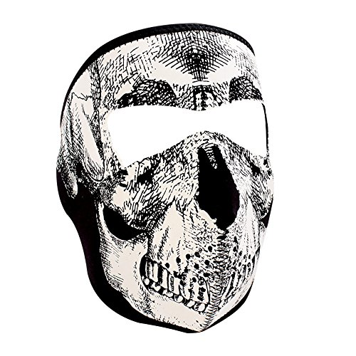 Zanheadgear White/Black Skull Neoprene Face Mask