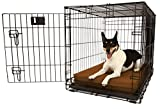 Orthopedic 4'' Dog Crate Pad by Big Barker - 30'' x 21''. Waterproof & Tear Resistant. Thick, Heavy Duty, Tough, Washable Cover. Luxury Orthopedic Support Foam inside. Made in USA.