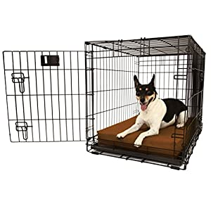 "Orthopedic 4"" Dog Crate Pad by Big Barker. Waterproof & Tear Resistant. Thick, Heavy Duty, Tough, Washable Cover. Luxury Orthopedic Support Foam inside. Sized to perfectly fit inside standard crate sizes. Made in USA. 21"