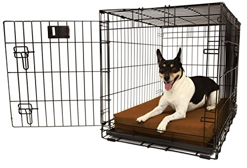 Orthopedic 4'' Dog Crate Pad by Big Barker - 30'' x 21''. Waterproof & Tear Resistant. Thick, Heavy Duty, Tough, Washable Cover. Luxury Orthopedic Support Foam inside. Made in USA. by Big Barker