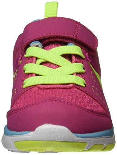 EB kids Crater Vs, Zapatillas Para Niñas Rosa (PINK/BLAU/LEMON)