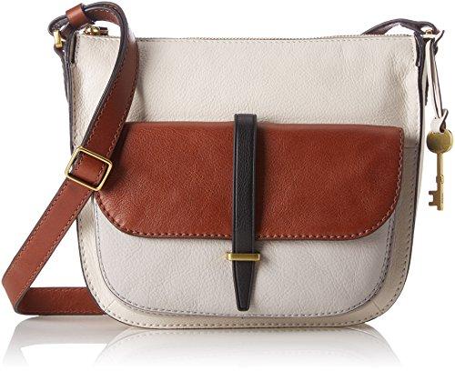 Fossil - Damentasche? Ryder Crossbody, Borse a tracolla Donna Bianco (Neutral Multi)