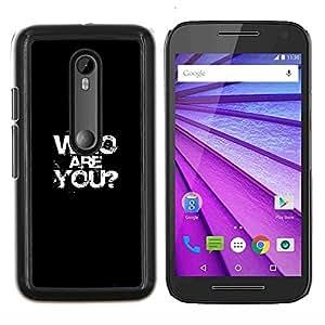LECELL--Funda protectora / Cubierta / Piel For Motorola MOTO G3 3rd Gen -- Quién eres --