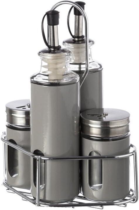 4 Piezas Westmark Menaje salero vinagrera y aceitera pimentero Centimeters