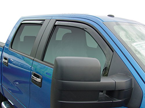 Wade 72-37405 Smoke In-Channel Wind Deflector for Ford F150 SuperCrew - 4 Piece