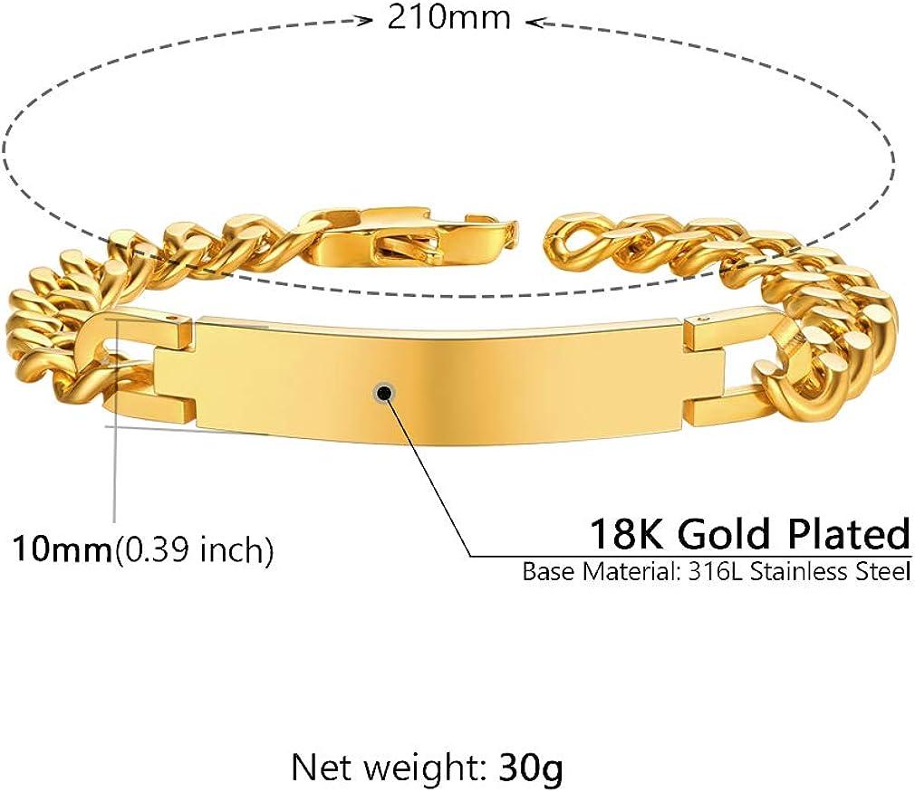 Supcare Cuban Link Chain Bracelet for Men,Polished 316L Stainless Steel Bracelets for Men Boy Teens Birthday 7//10mm,7.1+2//8.26,Silver//Gold//Black