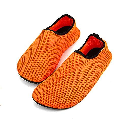 Unisex Light Water 39 38 Women Wading Outdoor 38 RUNGAO amp; Shoes Orange Orange Soft Soft Net Swimming 39 Shoes Seaside Shoes Shoes Beach amp; zwnwSPxpg