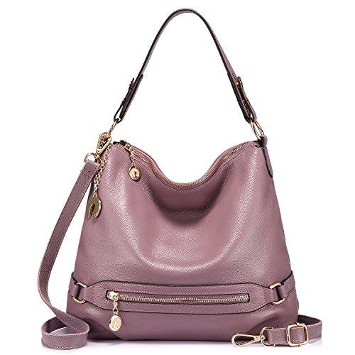 Genuine Leather Handbags for Women Large Designer Ladies Shoulder Bag Bucket - Designer Ladies