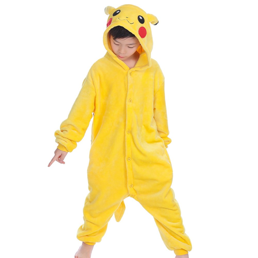 Wealsex Pigiama Intero Bambina Unicorno Bambini Ragazzi Unisex Cosplay Animale Pasqua Halloween Tuta Intera Regalo
