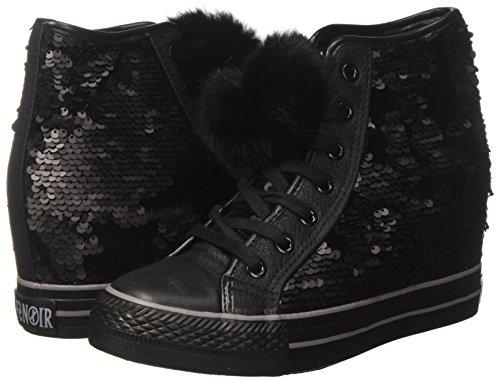 Nere Cafènoir Zeppa Nero Paiettes Sneakers Per Donna Alta Interna In Xxw7qrX6