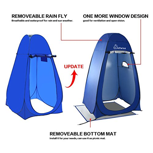Tall Pop Up Shelter : Wolfwise dressing tent shower privacy portable camping