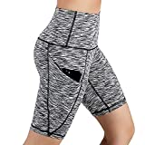 ♥Women's High Waist Yoga Short Pants,Ladies Tummy Control Workout Running Solid Pocket Trouser Yoga Trouser Leggings
