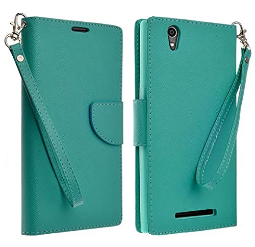 HTC Desire 626 Case, HTC Desires 626s Wallet Case with Foldable Stand, Pockets for ID, Credit Cards Flip Case For HTC Desire 626 / 626s - Teal Wallet