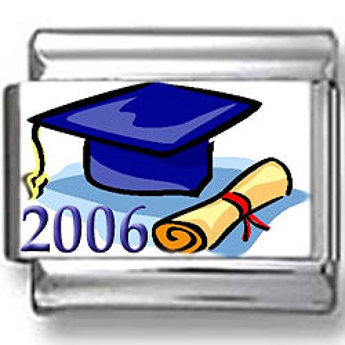2006 Graduation Cap and Diploma Photo Italian Charm