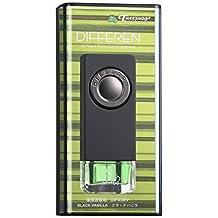 Treefrog Differen Luxury Fragrance Vent Clip Car Air Freshener Scent, Vanilla, Black