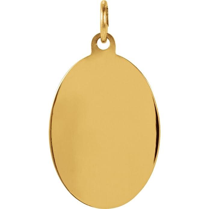14K Yellow Gold 19x13.5mm St Joseph Oval Medal