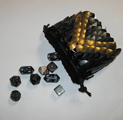 Scalemail Dice Bag Size Medium Knitted Dragonhide Armor - Evil Enforcer - 4.5
