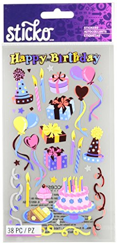 Birthday Scrapbooking Stickers - Sticko Classic Stickers-Birthday Party