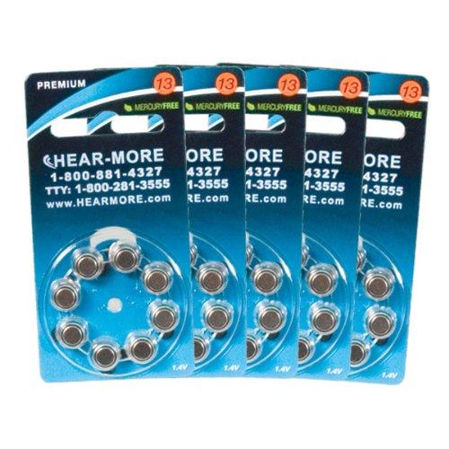 HearMore Hearing Aid Batteries- Size 13 -Ctn-40