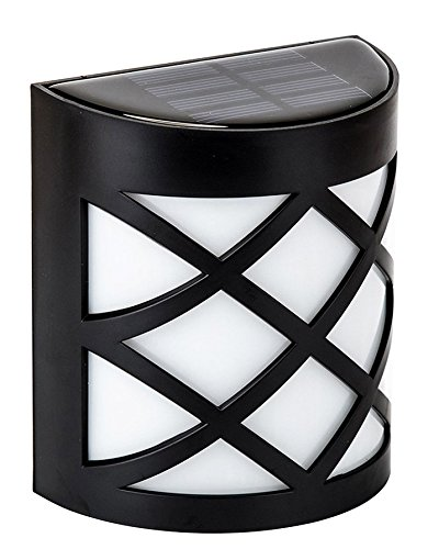 MaxBrite Solar Accent Light for Outdoor Patio, Garden, Fence Wall, or Yard Decoration, Warm White, Elegant Design