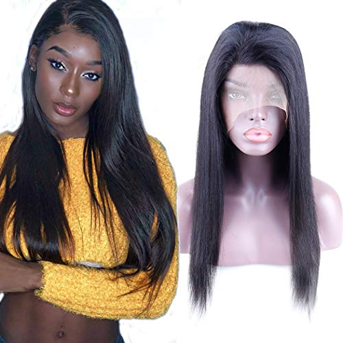 B-Fashion 360 Lace Frontal Wig Straight Human Hair Wigs For Black Women 10A Grade Brazilian Virgin Remy Human Hair Wigs Pre Plucked With Baby Hair 20inch Glueless 360 Lace Wigs 130% Density