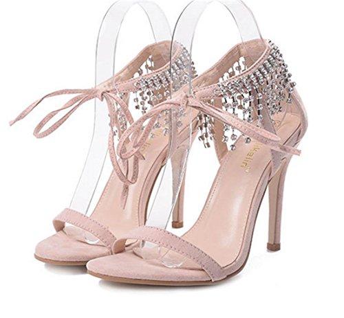 Da Donne Delle Strass Alla Tacco Dimensione Scarpe Lh A Yu Spillo Delle Albicocche Partito Alto Donne Ladiessexy Caviglia Di Di Cinghie Sera Qualità Sandali Cinturino nXzOwACxzq
