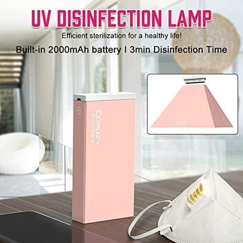 Rosa VADIV Scatola Sterilizzatore Ultravioletta Portatile 3 Minuti con Ricarica USB Luci di Disinfezione UV per Telefoni