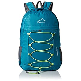 CLEVER BEES Outdoor Water Resistant Hiking Backpack 40 COMPACT. Folds into zippered inner pocket to fit anywhere. Unfolds from pocket to backpack. Must have on every trip. MULTI COMPARTMENTS. Features a classic shape with several pockets for storage and organization. This backpack has a roomy main compartment, one front zipper pocket to hold small accessories, one internal security zippered pocket for valuable items and two side pockets for water bottle or umbrella. LIGHTWEIGHT (0.54 Pounds) and ROOMY (25L). A true space saver. Stuff the bag into its own pocket for storage---no extra fees, and unzip it when you reach your destination. Avoid overweight charges, simply unfold from your luggage and use it as a carry on for your excess baggage.