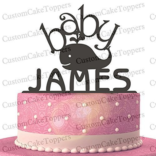 Whale Birthday Cake Topper Personalized Custom With Your