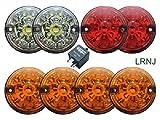 LAND ROVER SERIES 2 & SERIES 3 LED UPGRADE LAMPS KIT (73 mm LED style light) PART: DA1192