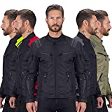 Viking Cycle Ironborn Protective Textile Motorcycle Jacket for Men - Waterproof, Breathable, CE Approved Armor for Bikers