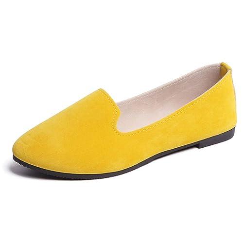 Daytwork Mujeres Plano Bombas - Slip-On Arco Detalle Mocasines Damas Chicas Confort Clásico IR De Compras Caminar Embarazada Dolly Zapatos: Amazon.es: ...
