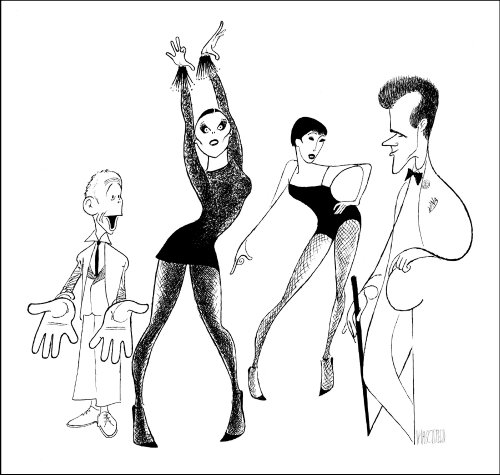 Hand Signed AL HIRSCHFELD, CHICAGO, Limited-Edition Lithograph, Depicting: BEBE NEUWIRTH, ANN REINKING, JOEL GREY, and JAMES NAUGHTON