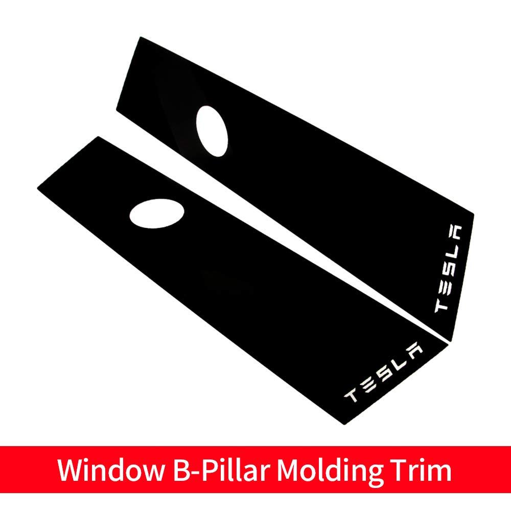 Model 3 Car Window B-Pillar Molding Trim Window Pillar PC Sticker for Tesla Model 3