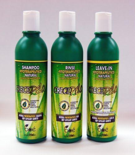 Crecepelo Combo III- Shampoo 12oz+ Rinse 12oz+ Leave-In 12oz by ...