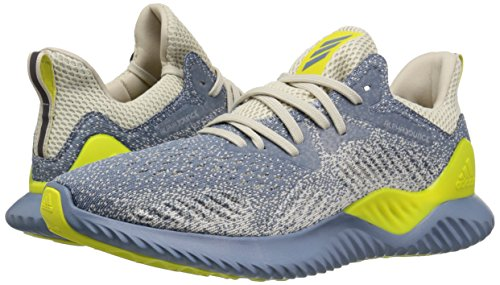 adidas Men's Alphabounce Beyond Running Shoe, Steel/raw Grey/Shock Yellow, 7 M US by adidas (Image #5)