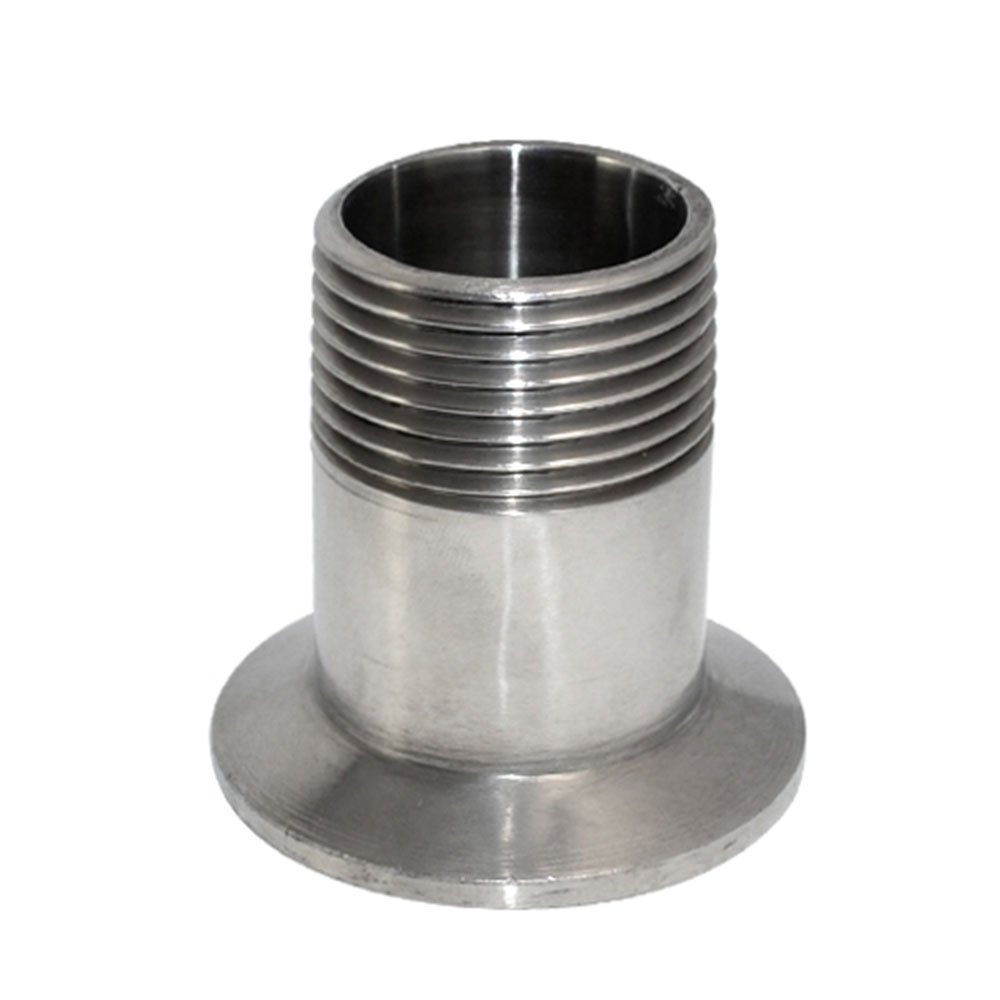 1 Sanit/är AG Gewindefitting Flansch Ferrule F/ür Tri Clamp 50.5mm BSPT