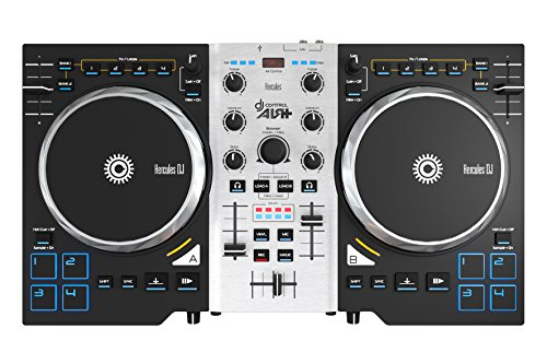 Hercules DJ Control Air+ S Series (2-Deck DJ Controller, XL-Jogwheels, Air Control, 8 Pads, Audio In/Out, DJUCED 40°)
