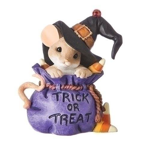 (Charming Tails You're Bewitchingly Sweet Mouse in Trick or Treat Bag)