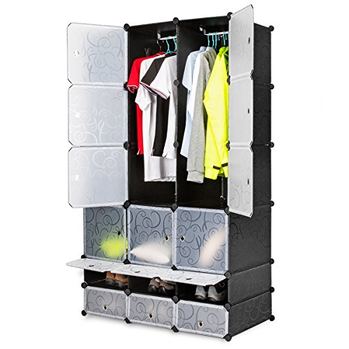 Honey Home Modular Shelving Organizer Cube Large Portable Clothes Rod Cubes Organizing Shoe Rack