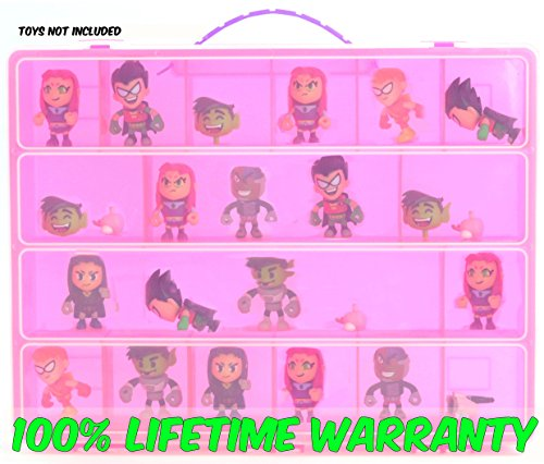 Teen Titans Carrying Case - Stores Dozens of Figures - Durable Toy Storage Organizer by Life Made Better