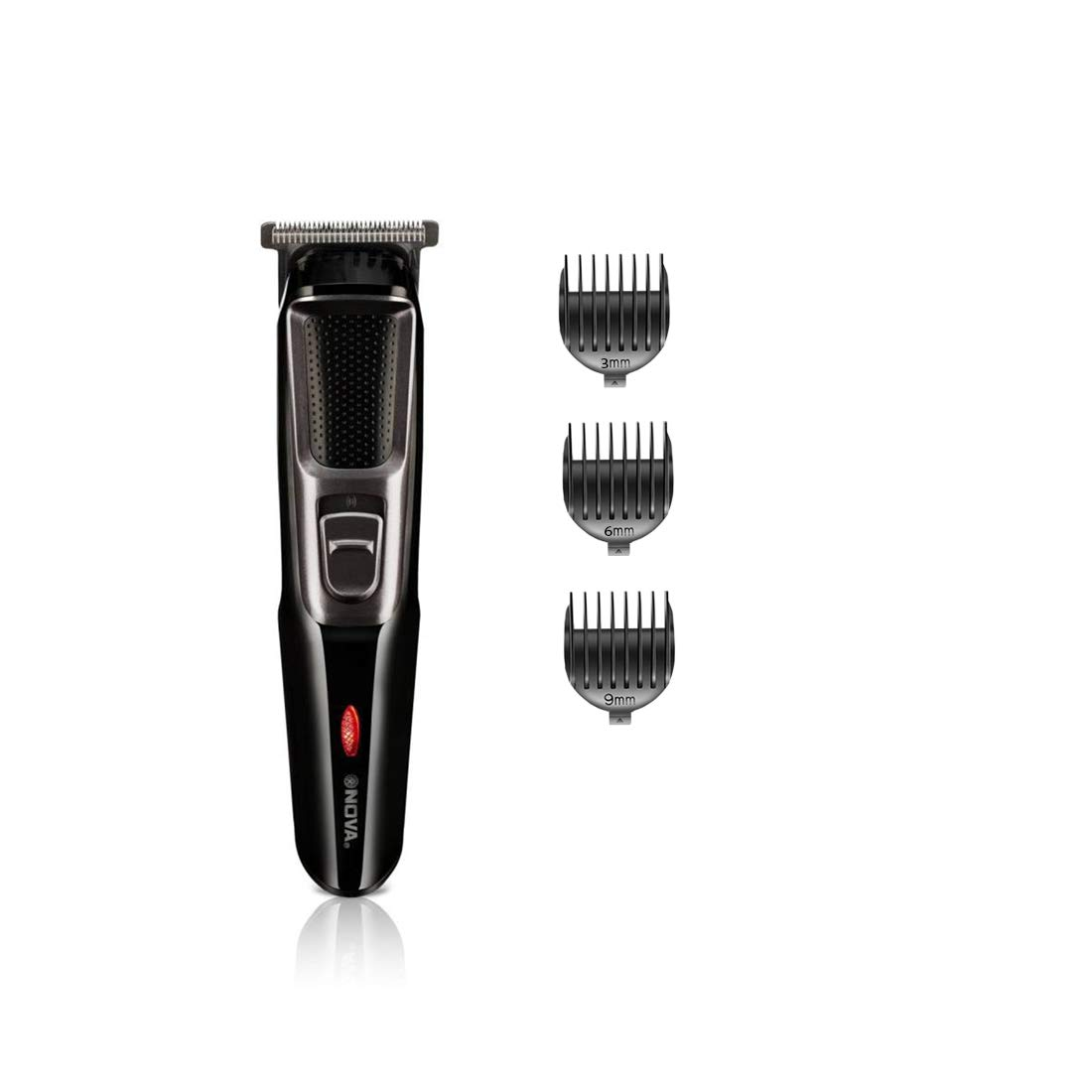 Nova NHT 1076 Cordless Trimmer for Men (Black)